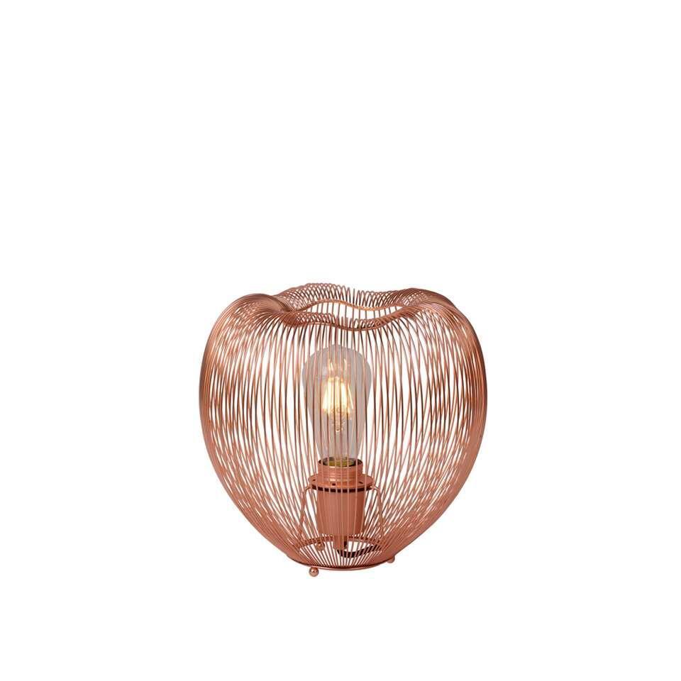 Lucide tafellamp Wirio - koper - Leen Bakker