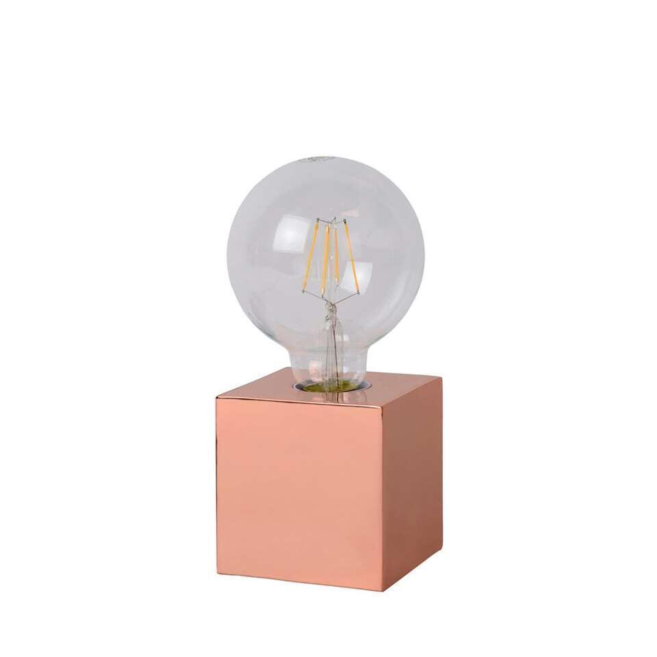 Lucide tafellamp Cubico - koper - Leen Bakker