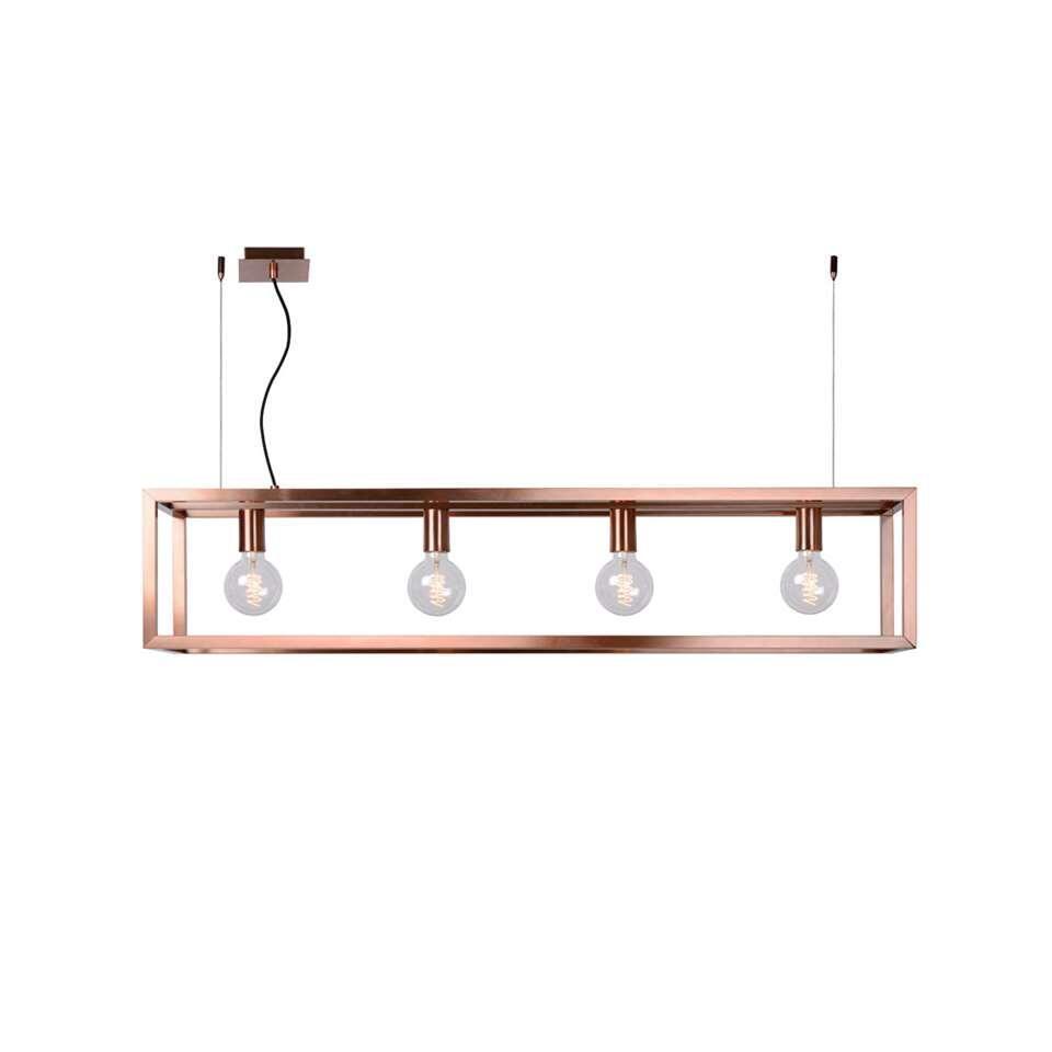 Hanglamp Oris van Lucide is een lust voor het oog. Het verfijnde stalen framewerk en de zorgvuldig geplaatste hoekverbindingen zijn het bewijs van kwaliteit en vakmanschap.