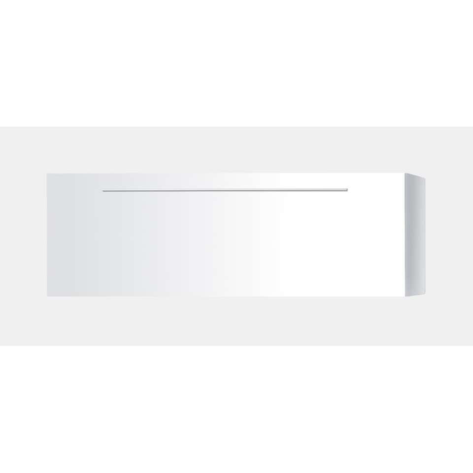 TV-meubel combinatie Mestre - hoogglans wit - neerwaarts - Leen Bakker