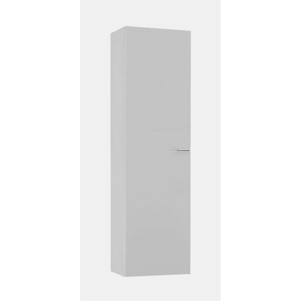 Hangkast Mestre - hoogglans wit - verticaal - 128 cm - Leen Bakker