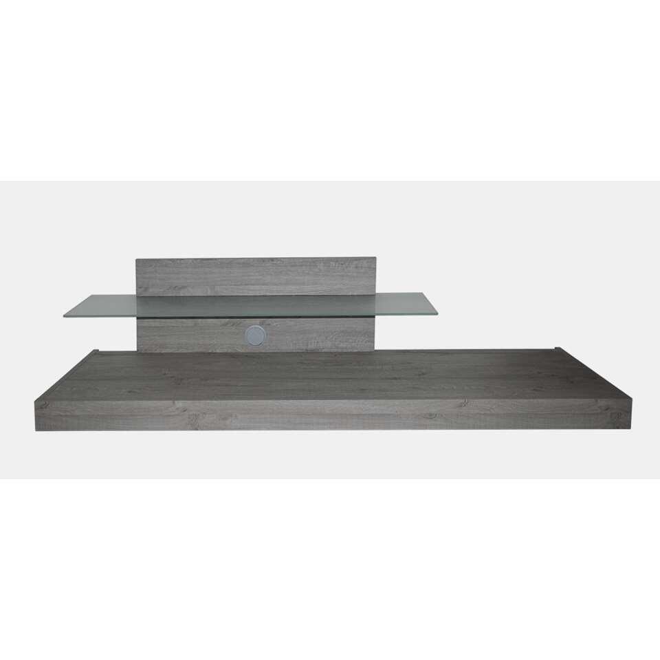 TV-meubel Mestre - grijs - 51x200x51 cm - Leen Bakker