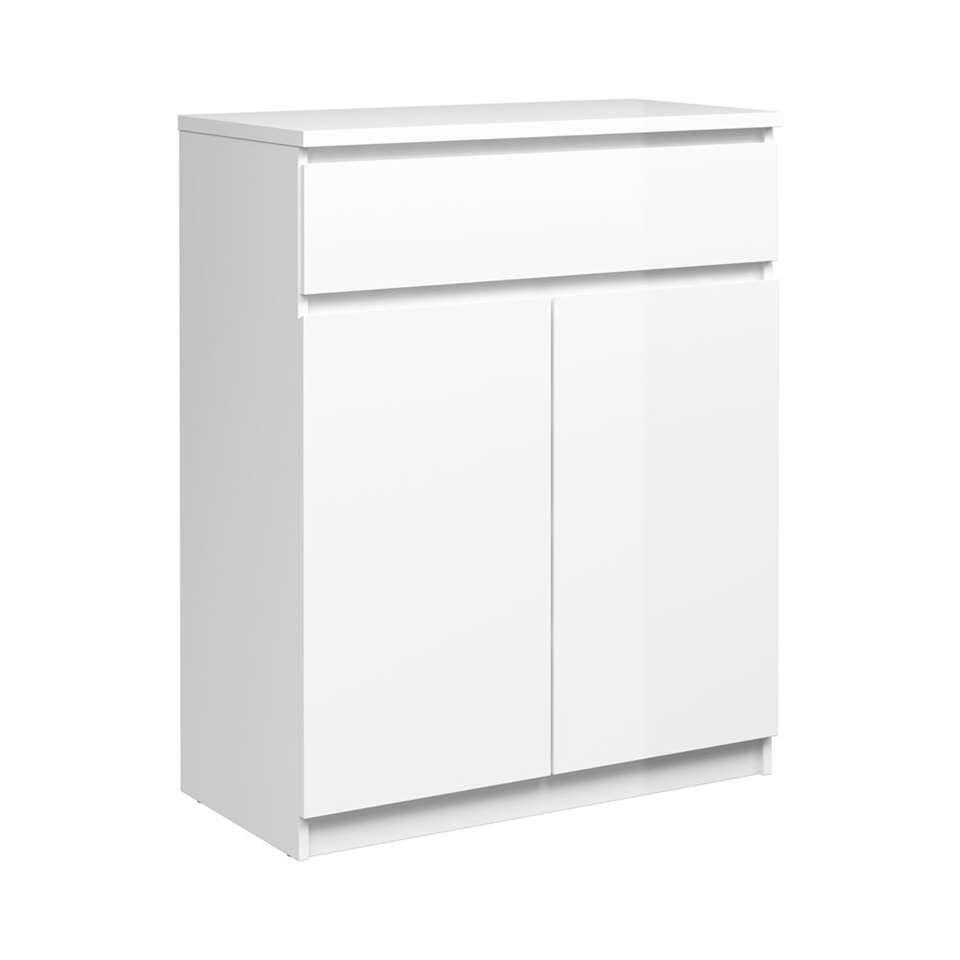 Dressoir Naia - hoogglans wit - 100,4x80,4x40 cm - Leen Bakker