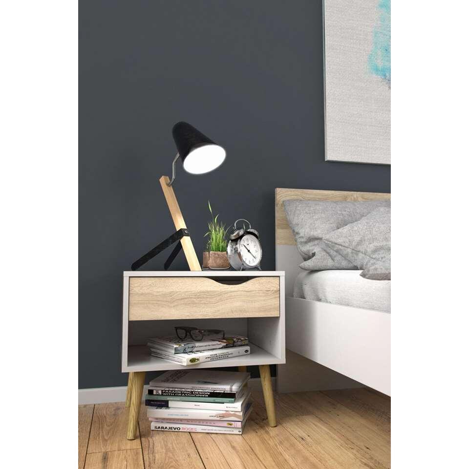 Design Nachtkastjes Wit.Nachtkastje Delta 1 Lade Wit