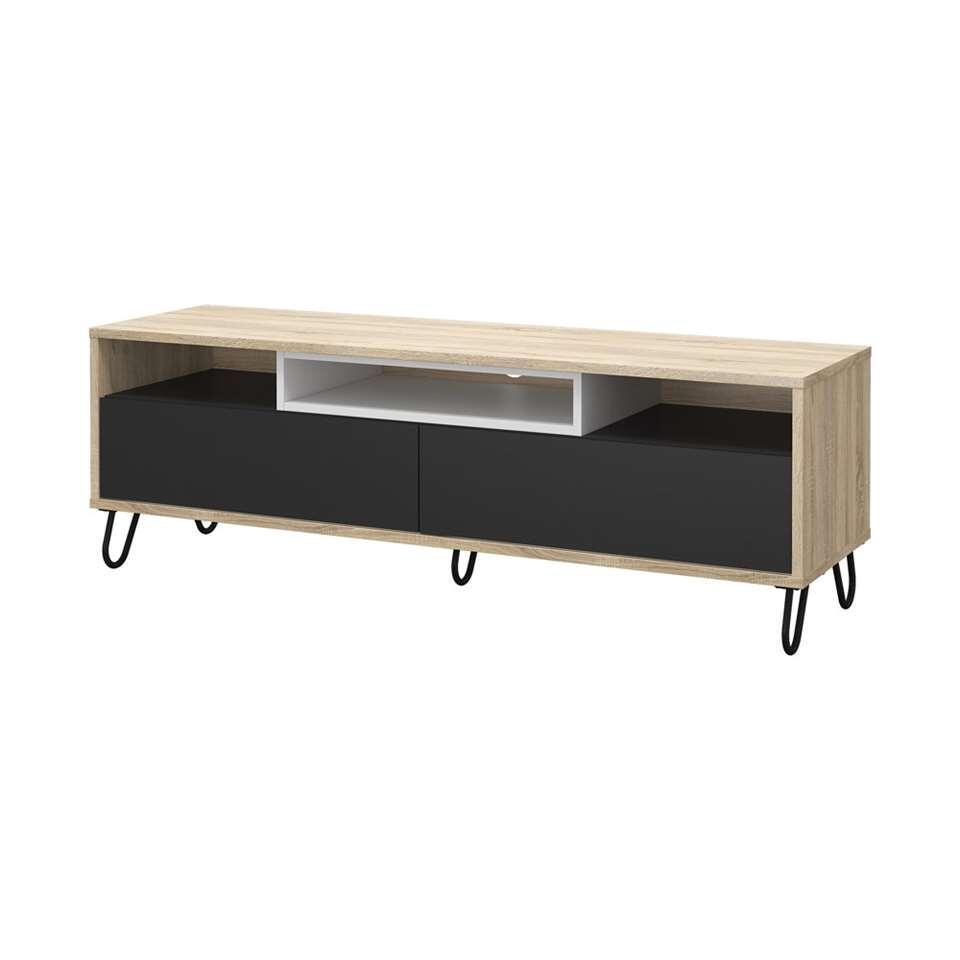 TV-meubel Uldum - eikenkleur - 139x40x46 cm - Leen Bakker