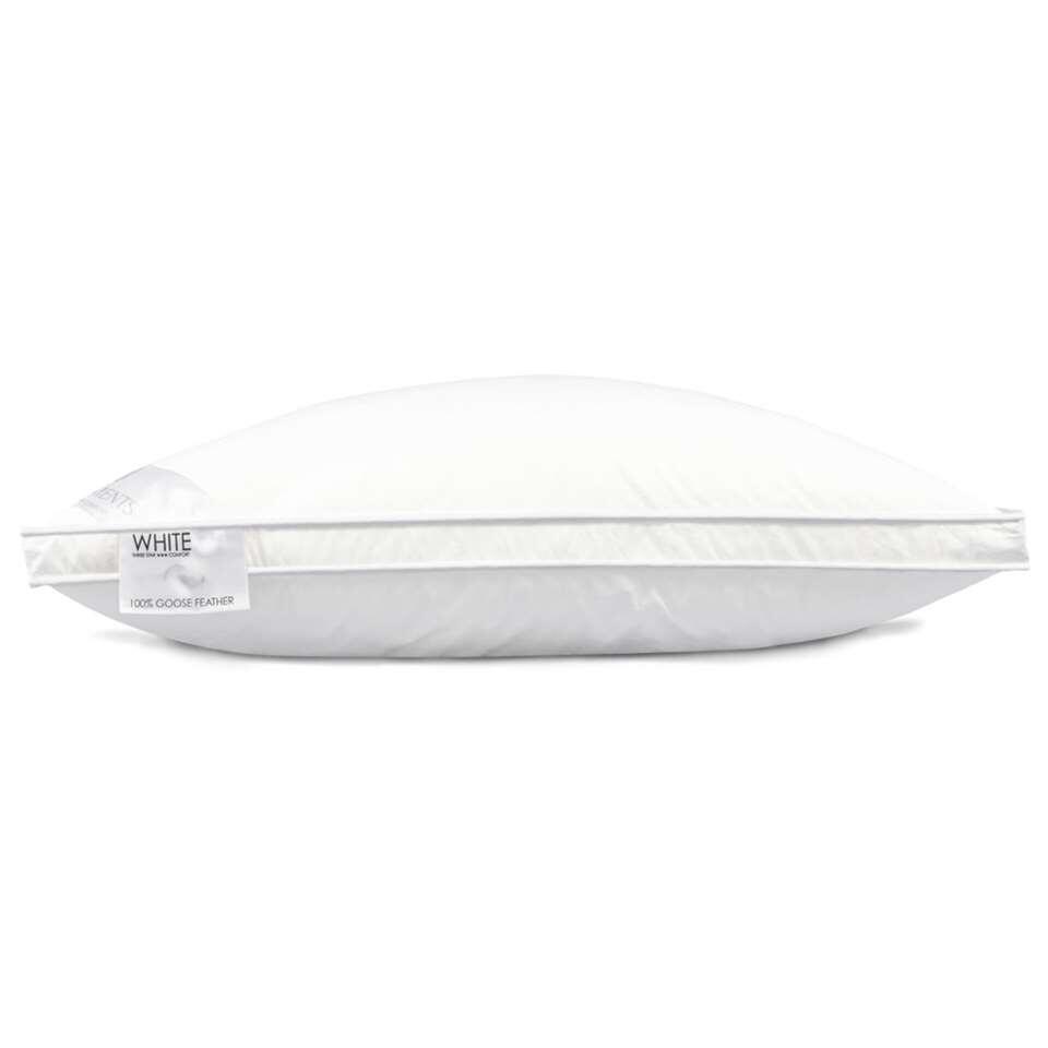 Heckett & Lane hoofdkussen White Label - 90% ganzendons - 80x80 cm - Leen Bakker