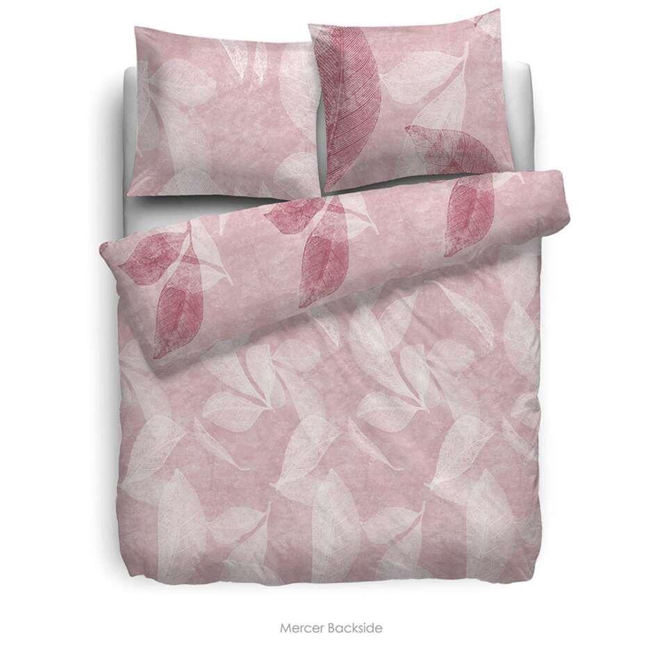Heckett & Lane dekbedovertrek Mercer - roze - 140x220 cm - Leen Bakker