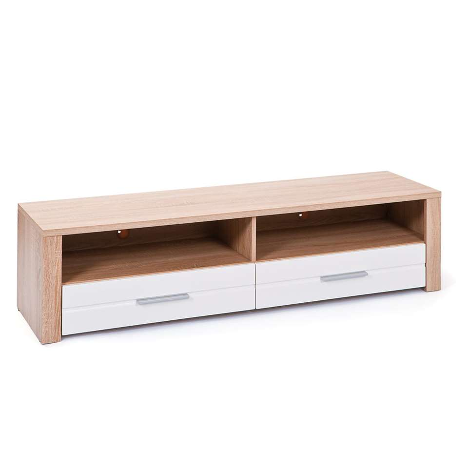 TV-meubel Absoluto - bruin - 37x150x40 cm - Leen Bakker