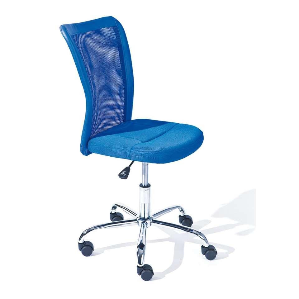 Bureaustoel Bonnie - blauw - Leen Bakker