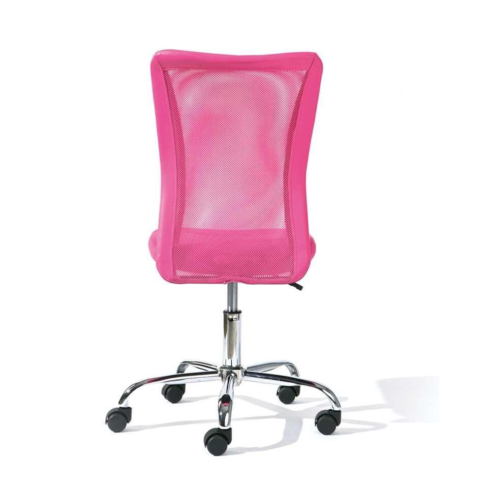 Roze Bureaustoel Leen Bakker.Bureaustoel Bonnie Roze