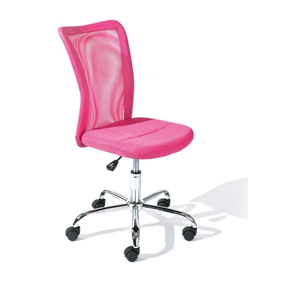 Bureaustoel Bonnie - roze - Leen Bakker