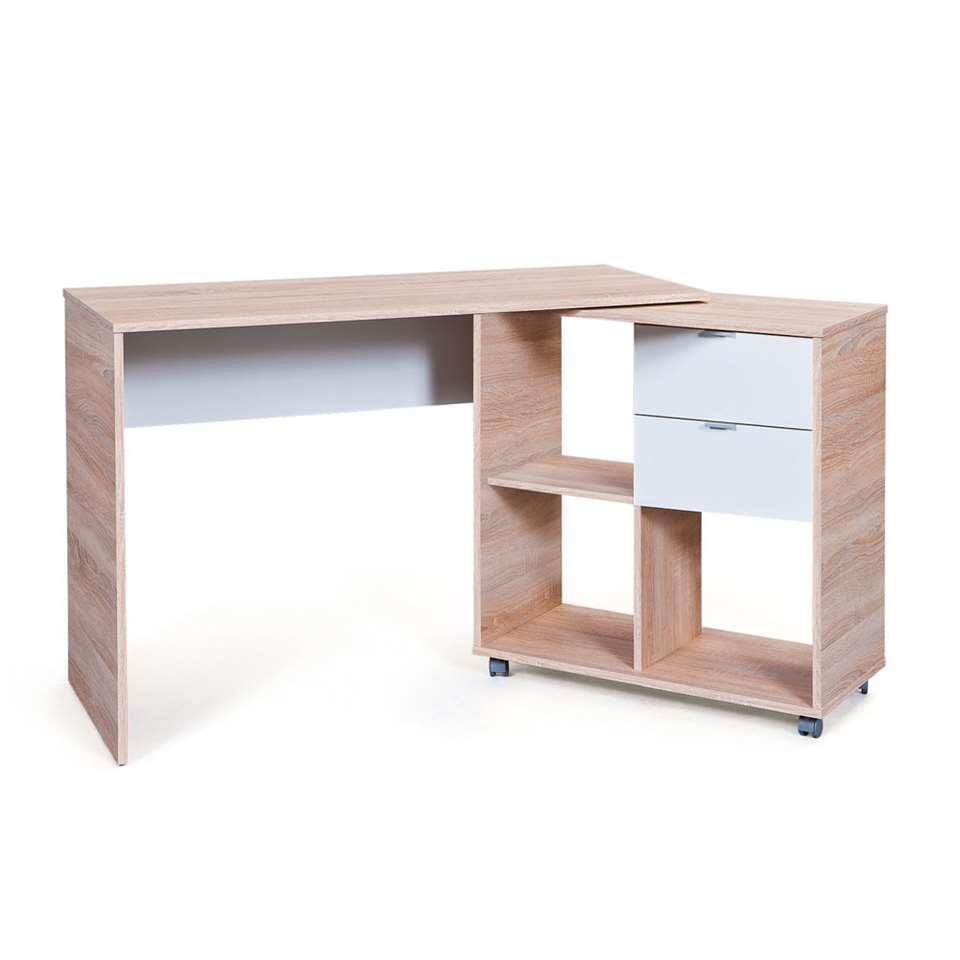 Bureau Finu - bruin - 79x120x50 cm - Leen Bakker