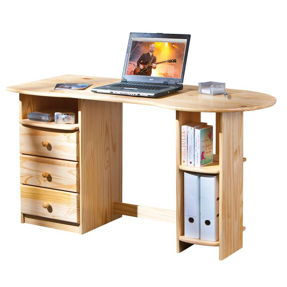 Bureau Touchround - naturel - 76x137x61 cm