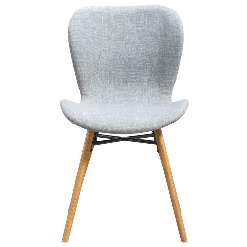 Eetkamerstoel helgum stof lichtgrijs 2 stuks for Eetkamer stoel
