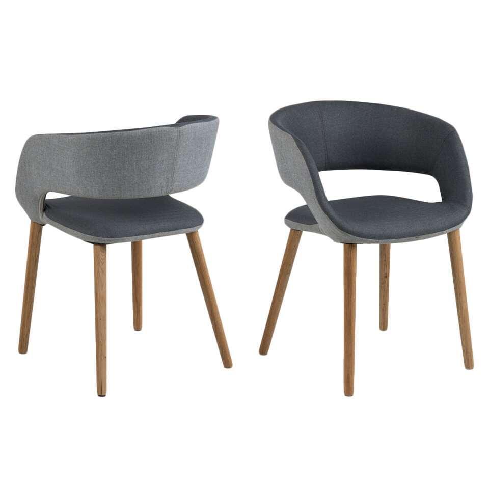 Chaise de salle à manger Boras - gris foncé/gris clair