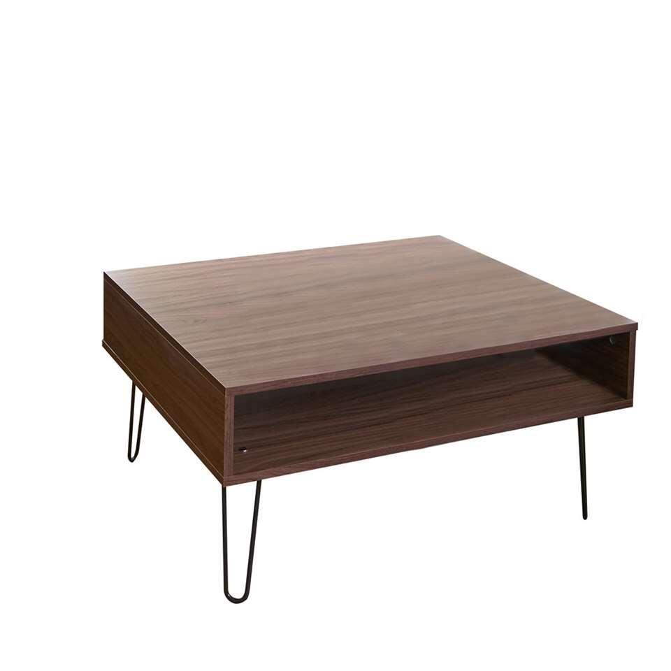 Symbiosis salontafel Lardal - walnootkleur - 42,2x89x67 cm - Leen Bakker