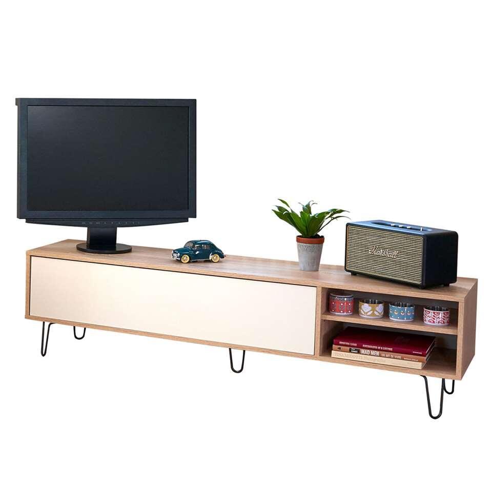 ¥Symbiosis TV-meubel Lardal - eikenkleur/wit - 43,5x165x40 cm¥ - Leen Bakker