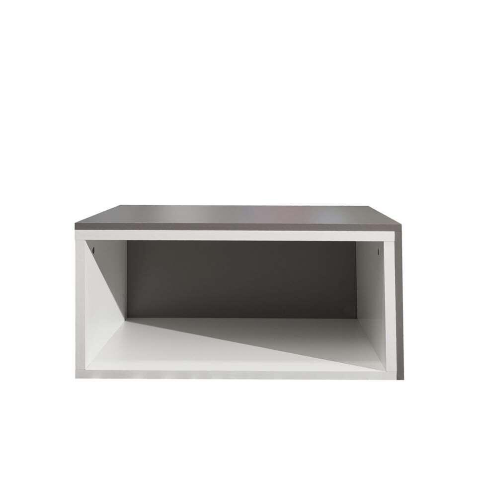 Symbiosis salontafel Rostoya - wit/taupe - 35x70x40 cm - Leen Bakker