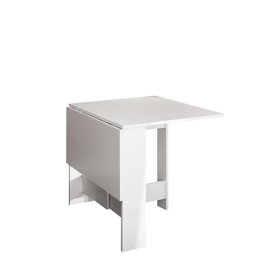 Symbiosis inklapbare tafel laugen wit 73 4x28x76 cm for Inklapbare tafel