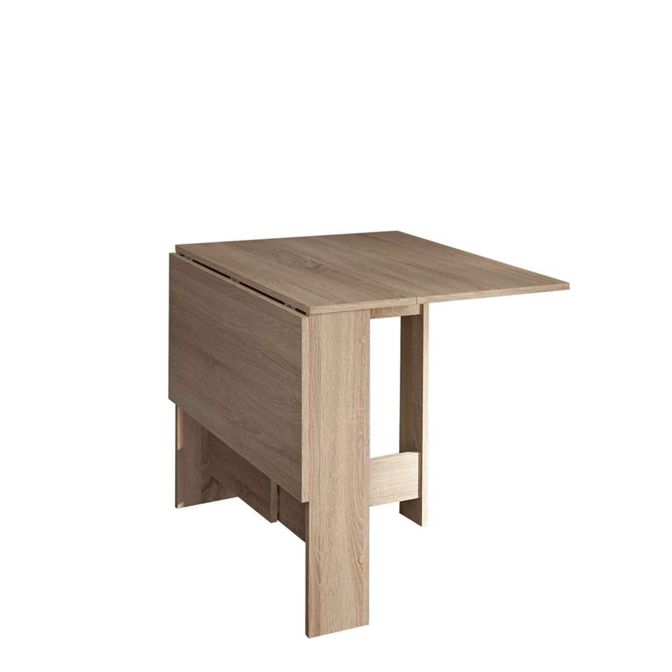 Symbiosis inklapbare tafel laugen eikenkleur 73 4x28x76 cm for Inklapbare tafel