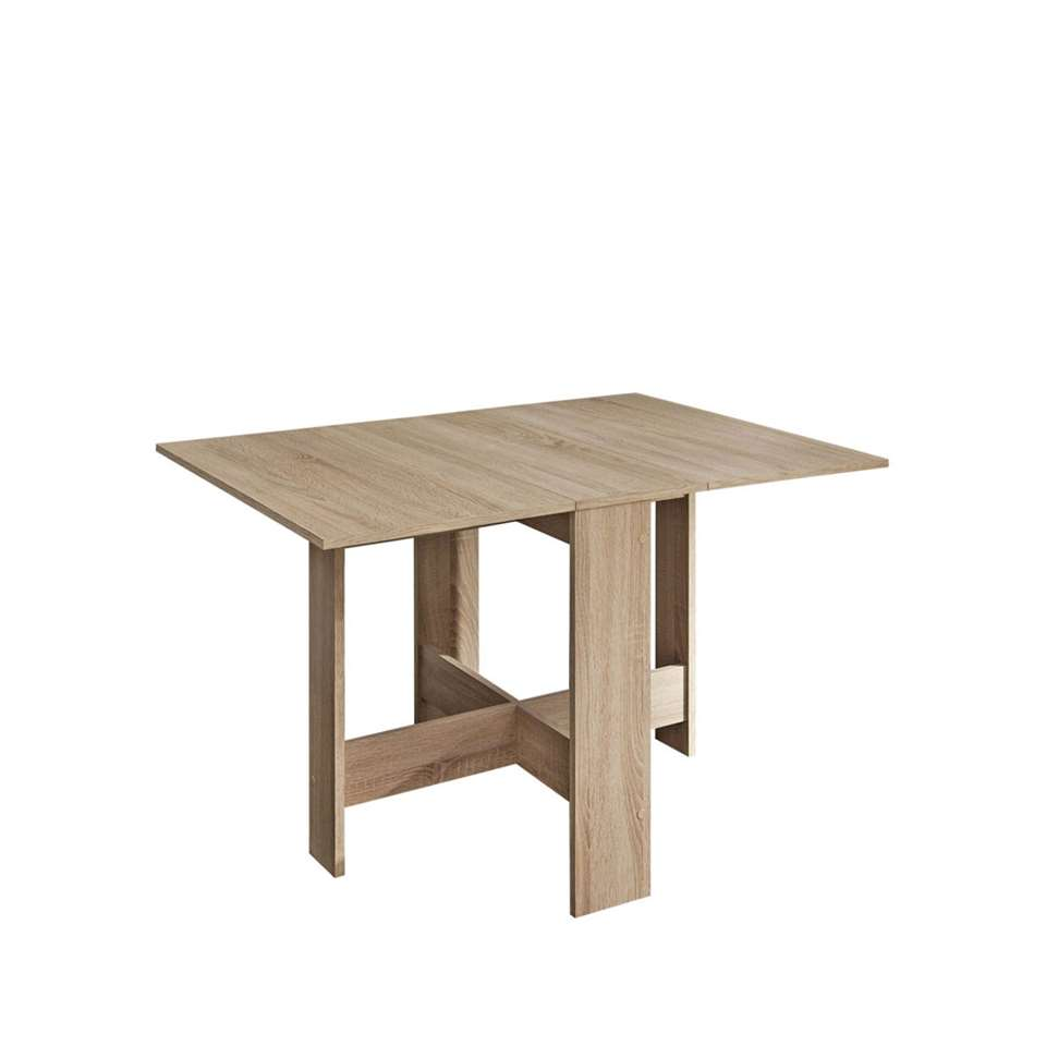 Symbiosis inklapbare tafel Laugen - eikenkleur - 73,4x28x76 cm - Leen Bakker