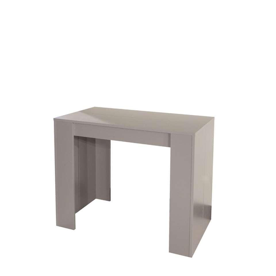 Symbiosis wandtafel/tafel Ruste uitbreidbaar - taupe - 74x49-198x91 cm - Leen Bakker