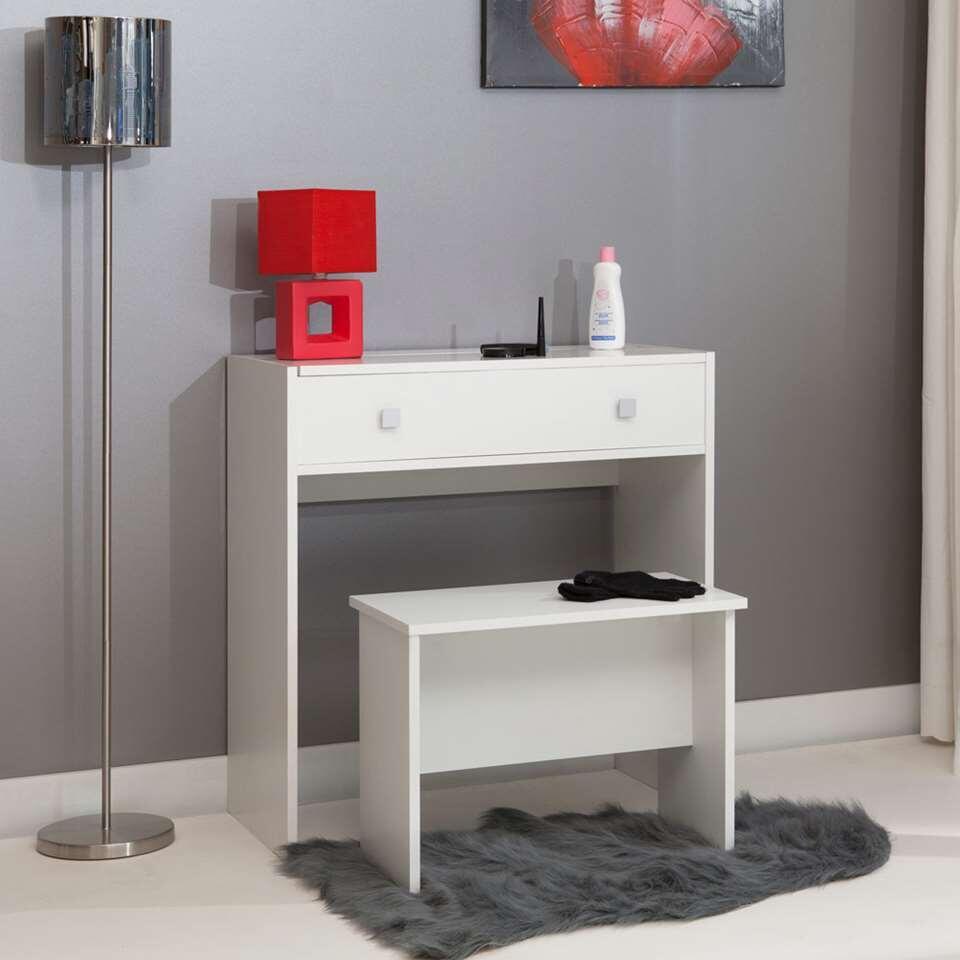 symbiosis kaptafel rotnes wit 80x74 2x40 cm. Black Bedroom Furniture Sets. Home Design Ideas