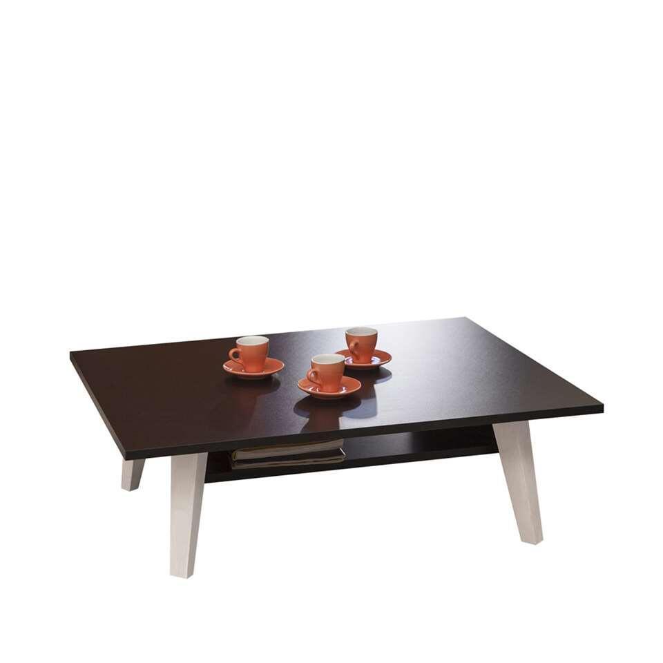Symbiosis salontafel Heidal - zwart - 28,2x89x67 cm - Leen Bakker