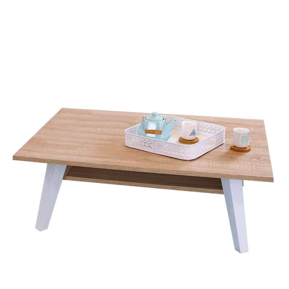 Symbiosis salontafel Heidal - eikenkleur - 28,2x89x67 cm - Leen Bakker