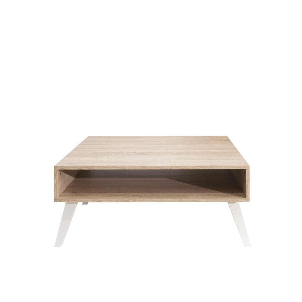 Symbiosis salontafel Dokka - wit/eikenkleur - 42x89x67 cm - Leen Bakker