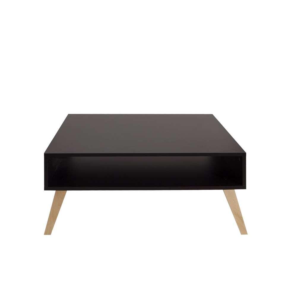 Symbiosis salontafel Dokka - zwart - 42x89x67 cm - Leen Bakker
