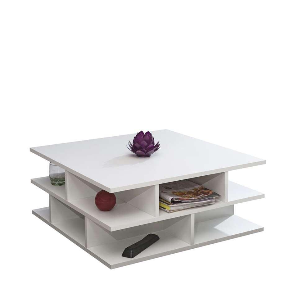 Symbiosis salontafel Ligarda - wit -28,9x70x70 cm - Leen Bakker