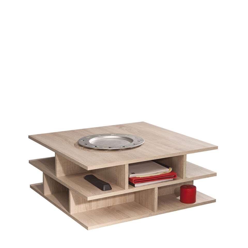 Symbiosis salontafel Ligarda - eikenkleur - 28,9x70x70 cm - Leen Bakker