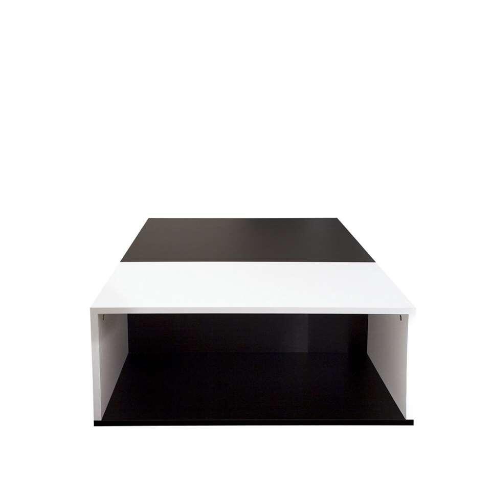 Symbiosis salontafel Krossen - wit/zwart - 34x89x67 cm - Leen Bakker