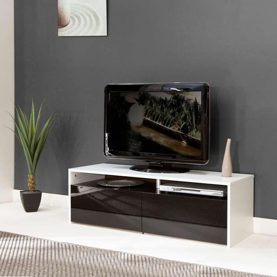 Tv Kast Zwart Wit.Symbiosis Tv Meubel Dalane Wit Zwart 37x119 4x40 Cm