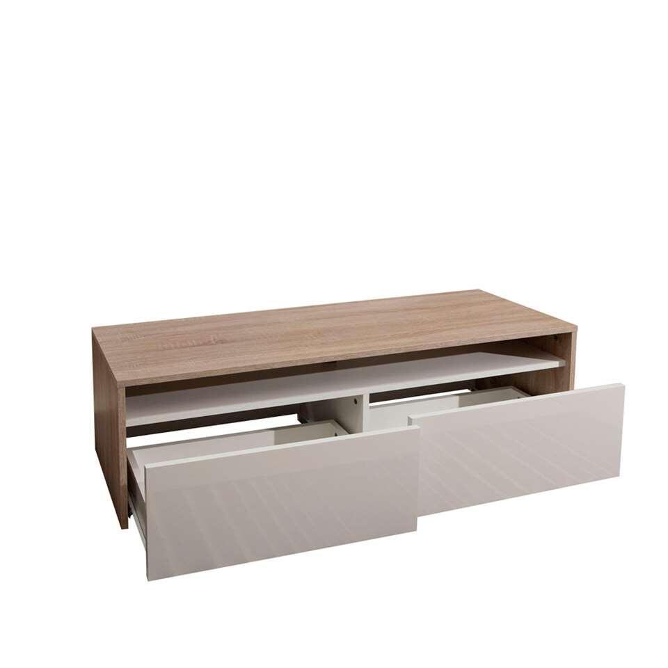 Symbiosis TV-meubel Dalane - eikenkleur/wit - 37x119,4x40 cm - Leen Bakker