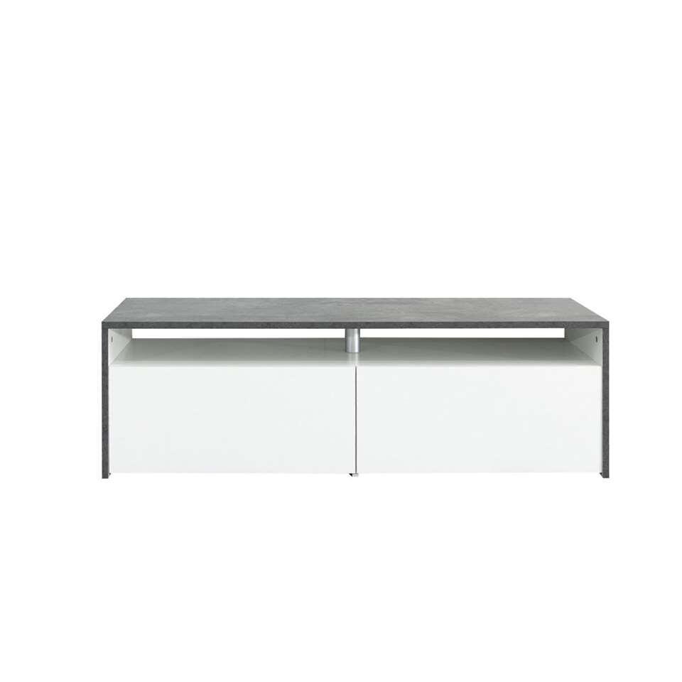 Symbiosis TV-meubel Dalane - betongrijs/wit - 37x119,4x40 cm - Leen Bakker