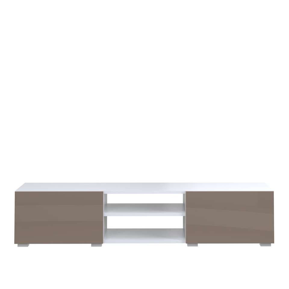 Symbiosis TV-meubel Borhaug - taupe/wit - 31x140x42 cm - Leen Bakker