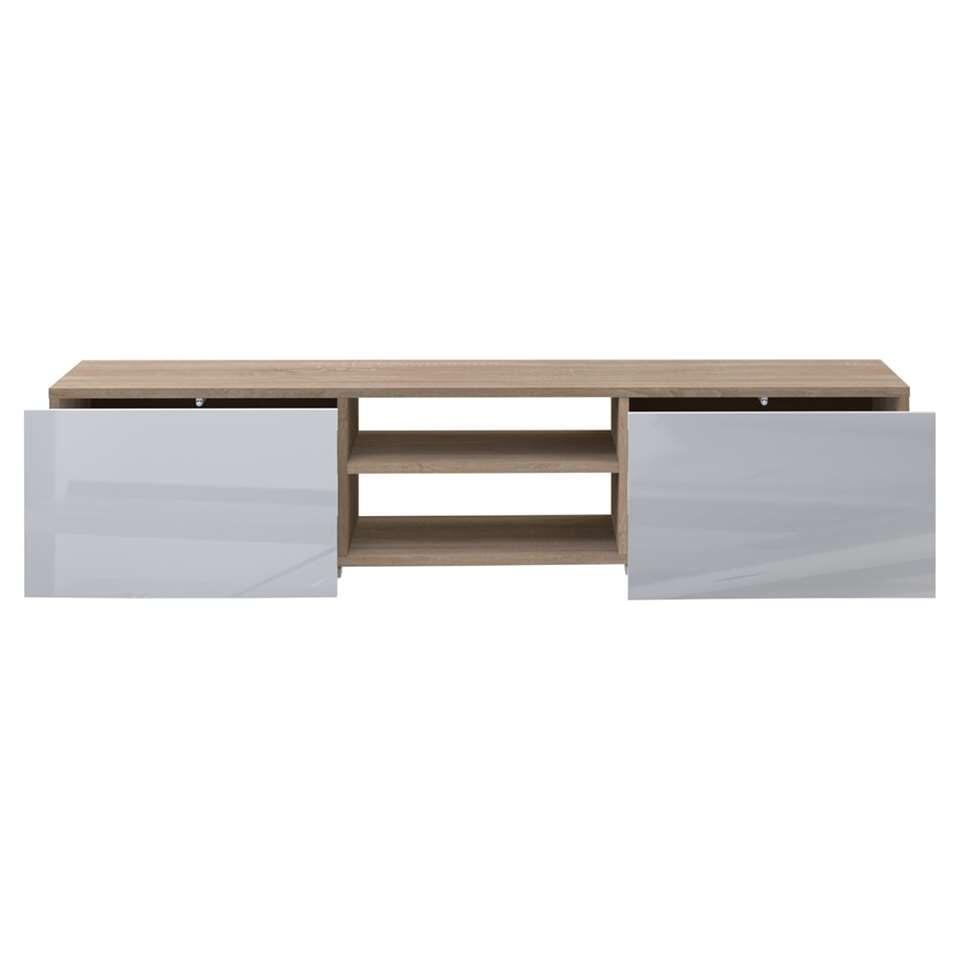Symbiosis TV-meubel Borhaug - wit/eikenkleur - 31x140x42 cm - Leen Bakker