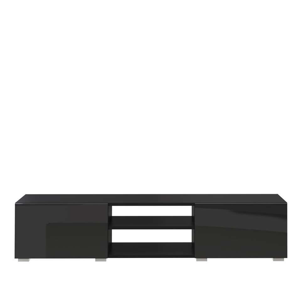 Symbiosis TV-meubel Borhaug - zwart - 31x140x42 cm - Leen Bakker