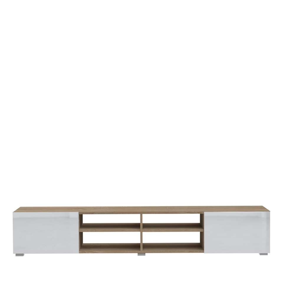 Symbiosis TV-meubel Havika - wit/eikenkleur - 31x185x42 cm - Leen Bakker