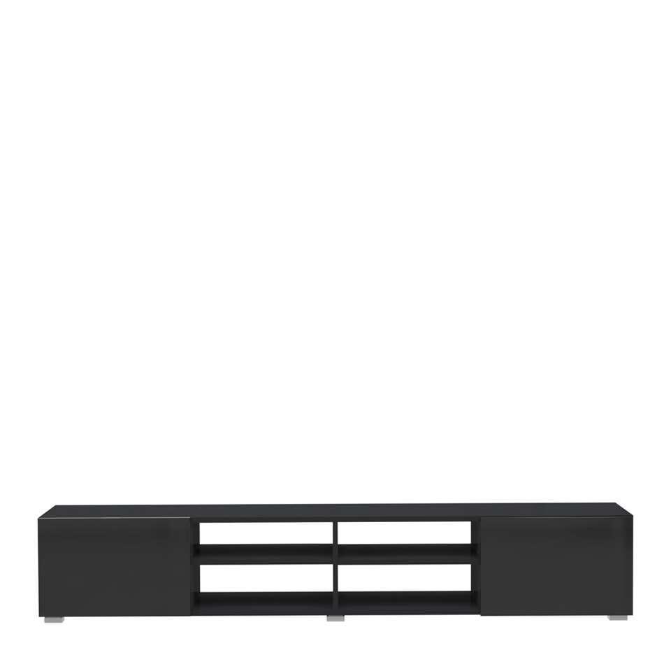 Symbiosis TV-meubel Havika – zwart – 31x140x42 cm – Leen Bakker