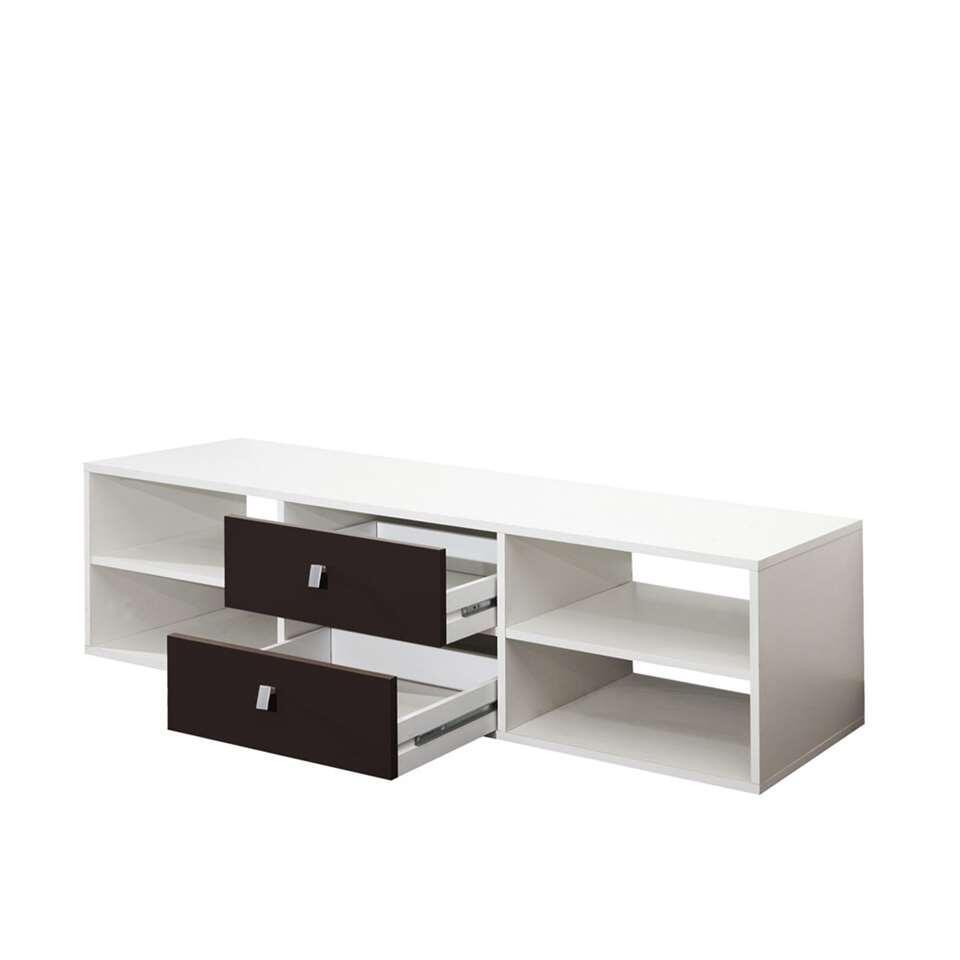 Symbiosis TV-meubel Kviljo – wit/zwart – 37,2×148,5×40 cm – Leen Bakker