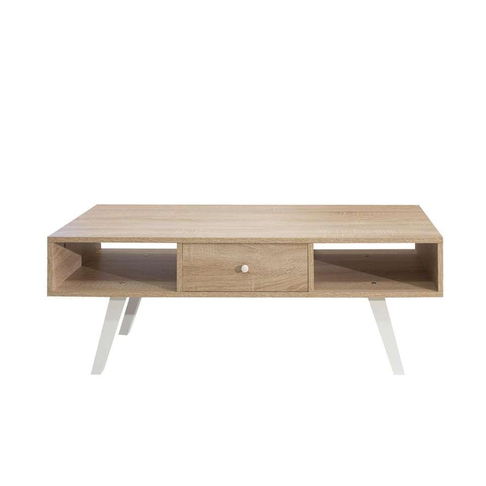 Symbiosis TV-meubel Sindal - eikenkleur/wit - 42,4x117x40 cm - Leen Bakker