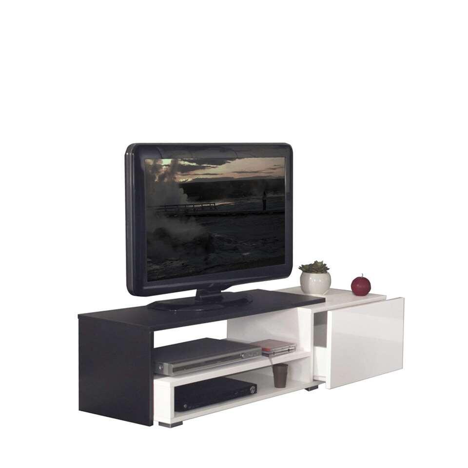 Symbiosis TV-meubel Astrup - wit/zwart - 32x120x42 cm - Leen Bakker
