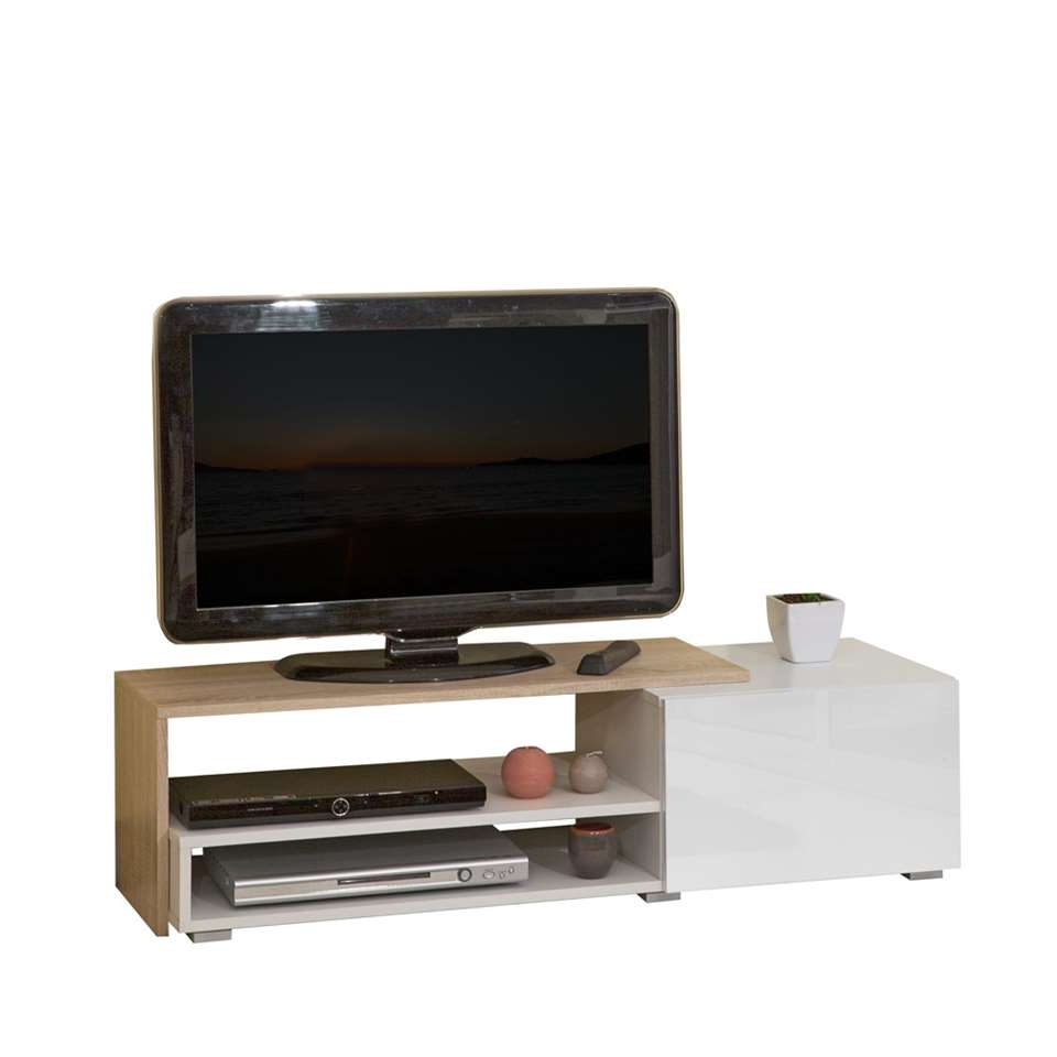 Symbiosis TV-meubel Astrup - wit/eiken - 32x120x42 cm