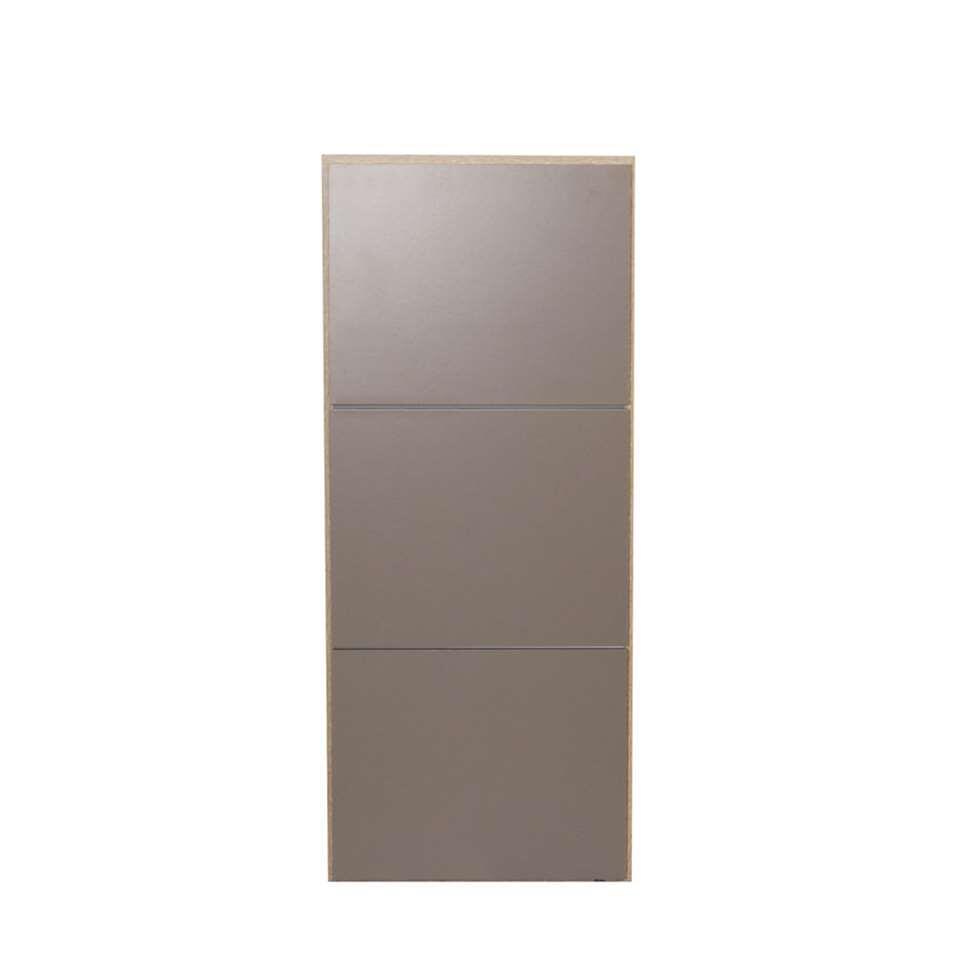 Symbiosis schoenenkast Narup - eikenkleur/taupe - 118,7x50x33,1 cm - Leen Bakker