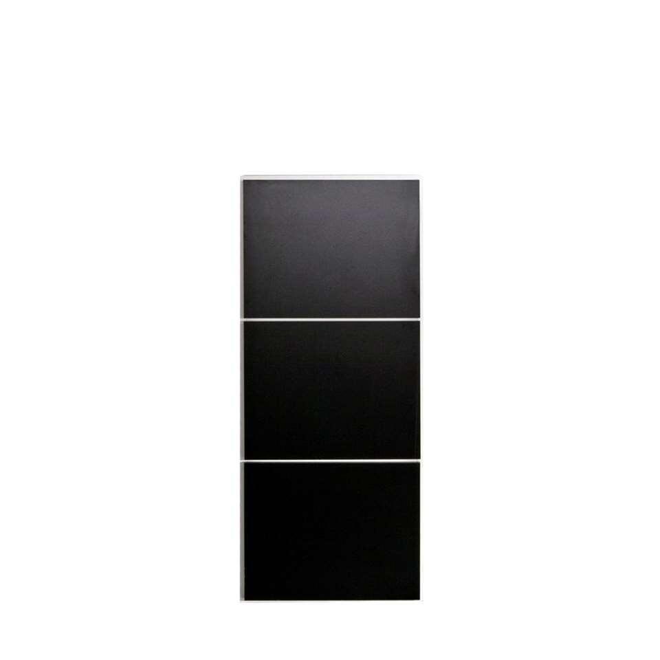 Symbiosis schoenenkast Narup - wit/zwart - 118,7x50x33,1 cm - Leen Bakker