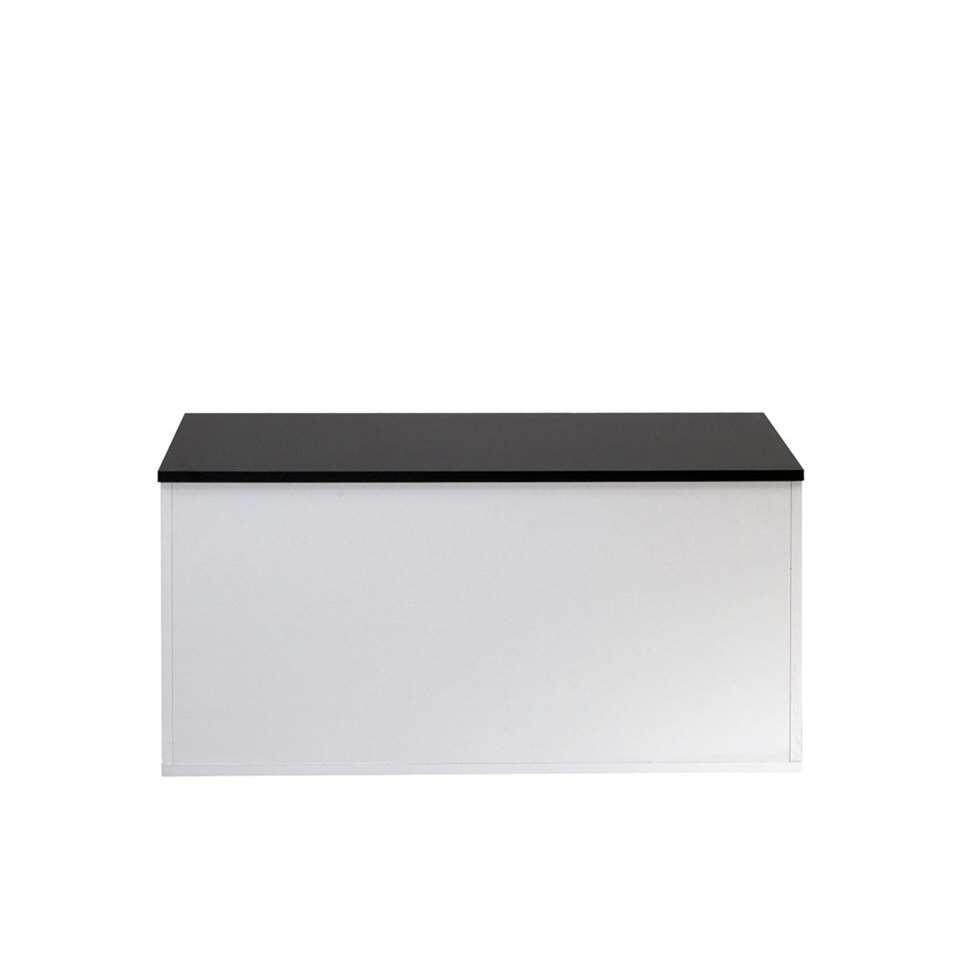 Symbiosis schoenenkast Orte - wit/zwart - 43,2x89x39,2 cm - Leen Bakker