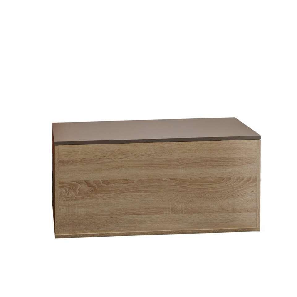 Symbiosis schoenenkast Orte - eikenkleur/taupe - 43,2x89x39,2 cm - Leen Bakker